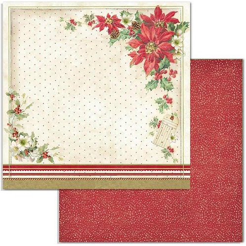 "Poinsettia, Classic Christmas SBB705 12"" paper"