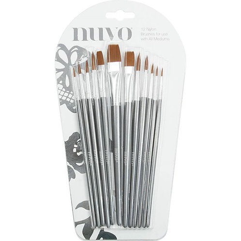 Nuvo Paint Brushes 12/Pkg