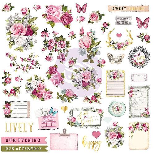 Misty Rose Ephemera and stickers