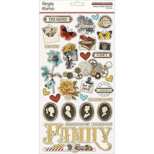 Vintage Ancestry - Chipboard Stickers