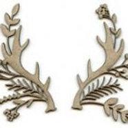 Decorative Antlers 2 pieces 9 x 7cm / 8 x 5cm