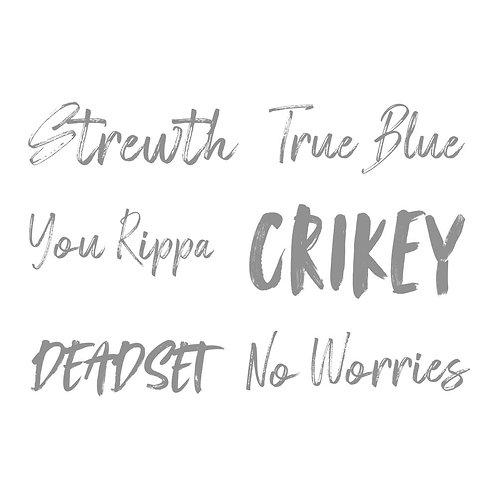 Sweeping Plains Mini True Blue sentiments  stamp set