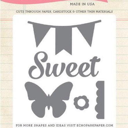 Echo Park - Sweet Butterfly Banner Die