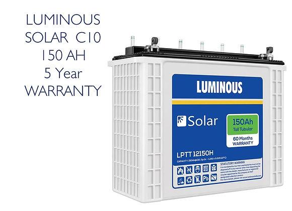 LUMINOUS C10 Solar Battery - 150AH (5 Year Warranty)