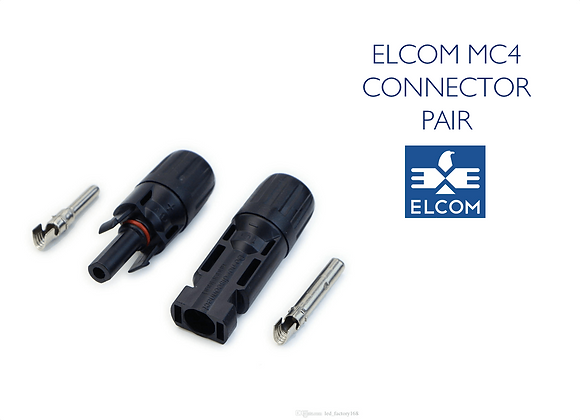 MC4 SOLAR CABLE CONNECTOR PAIR - UV Resistant (ELCOM)