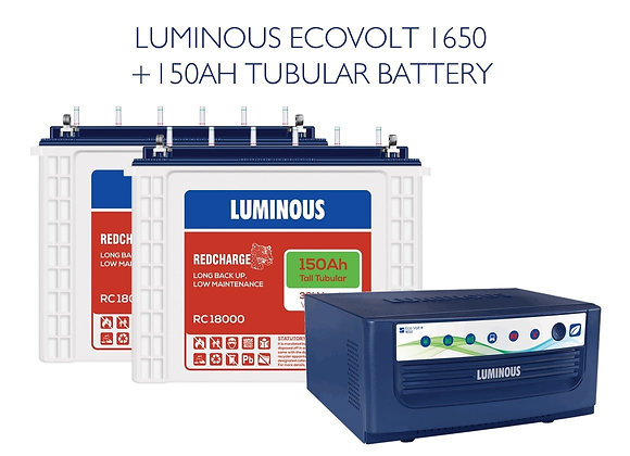 ECOVOLT SINE 1650 with 150AH RC18000 BATTERY
