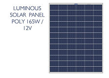 Luminous 165W poly panel