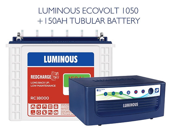 ECOVOLT SINE 1050 with 150AH RC18000 BATTERY