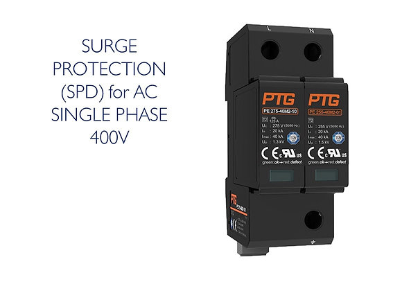 SURGE PROTECTION (SPD) AC 1 PHASE 400V (PTE)