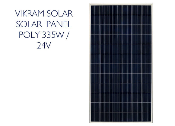 VIKRAM SOLAR POLY PANEL - 335W 24V