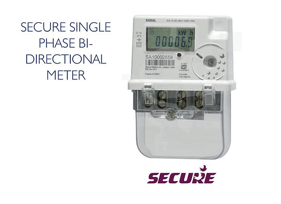 SINGLE PHASE BI -DIRECTIONAL METER - SECURE