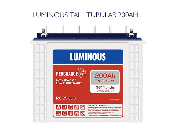 LUMINOUS TUBULAR BATTERY 200AH RC25000
