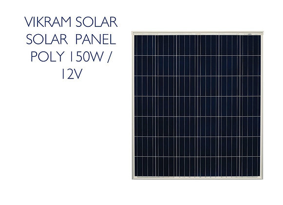 VIKRAM SOLAR POLY PANEL - 150W 12V