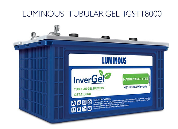 LUMINOUS GEL BATTERY 150AH IGSTJ18000