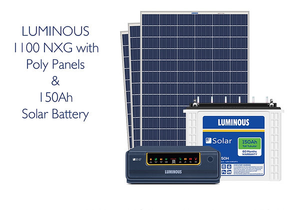 850VA LUMINOUS SOLAR with 495W Panel & Battery