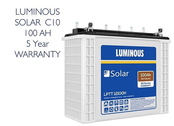 LUMINOUS C10 Solar Battery - 100AH (5 Year Warranty)