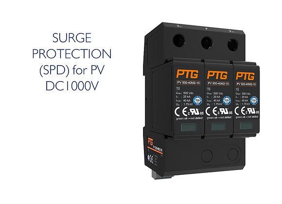 SURGE PROTECTION (SPD) DC 3 POLE 1000V (PTG)