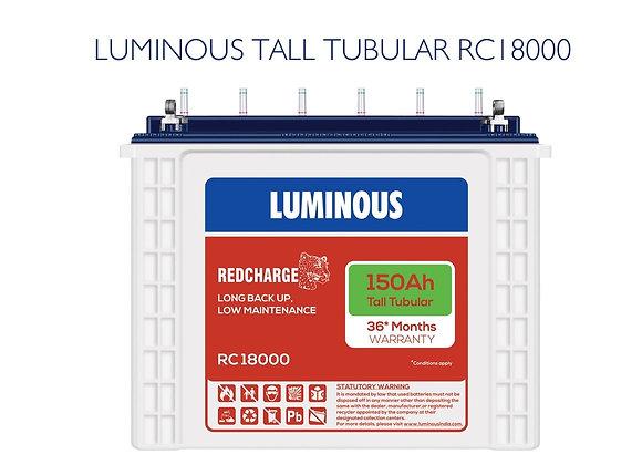 LUMINOUS TUBULAR BATTERY 150AH RC18000