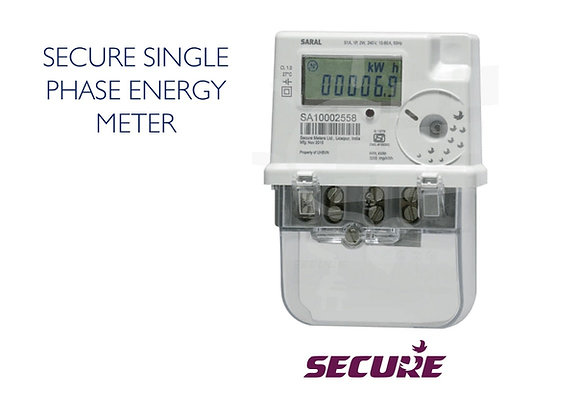 SINGLE PHASE ENERGY METER - SECURE