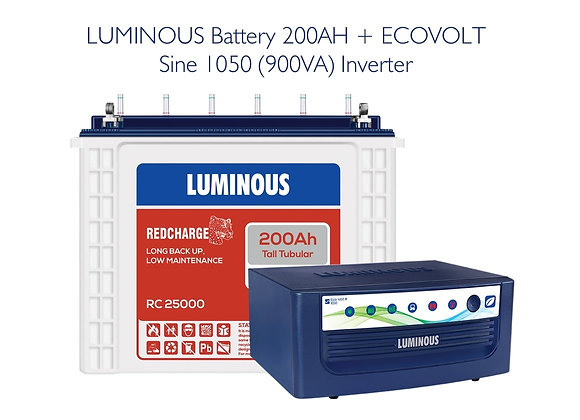ECOVOLT SINE 1050 with 200AH RC25000 BATTERY