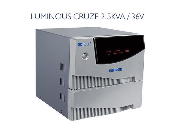 LUMINOUS CRUZE 2.5KVA /36V