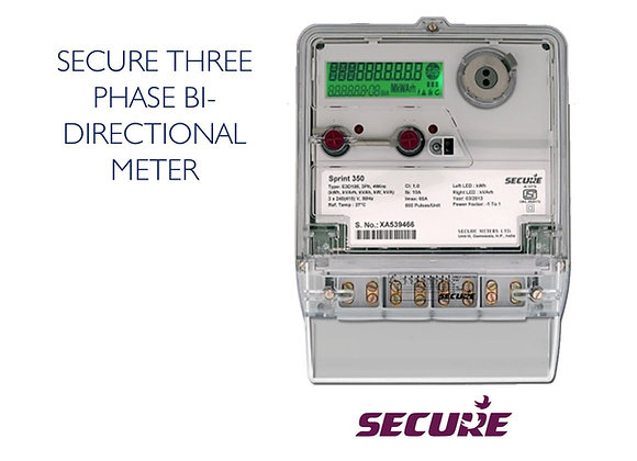 THREE PHASE BI -DIRECTIONAL METER - SECURE