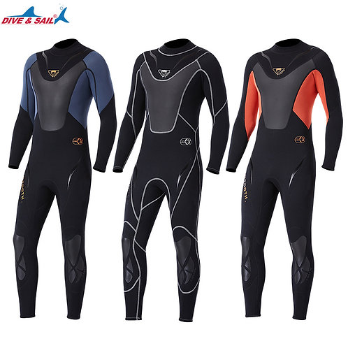 Full-Body Men 3mm Neoprene Wetsuit
