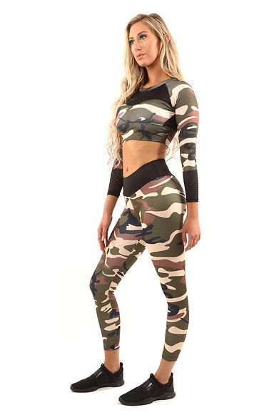 Camouflage - Leggings & Sports Bra set