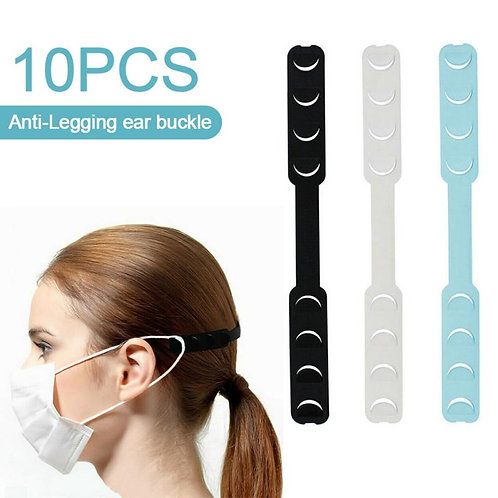 10pcs Silicone Mask Ear Grips Extension, Ear Protection.