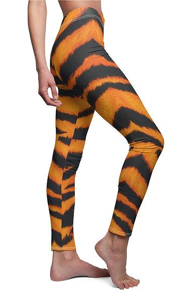 TIGER STRIPES Cut & Sew Casual Leggings