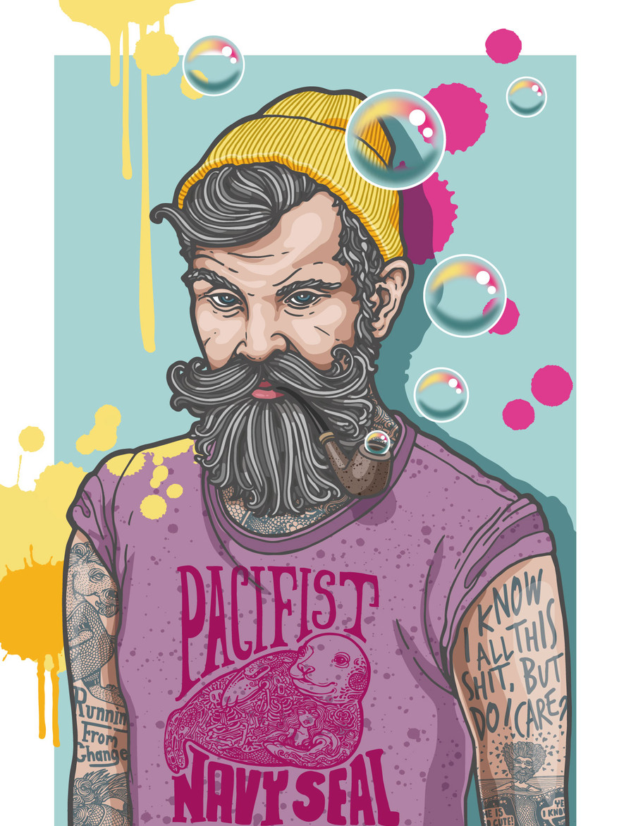 Hipster Dude - I know but do I care?