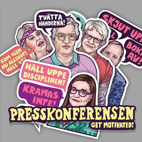 Presskonferensen - Motivation Stickers -Multi Pack!
