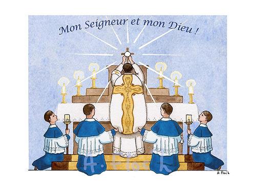 Lot de 8 images de communion C013b
