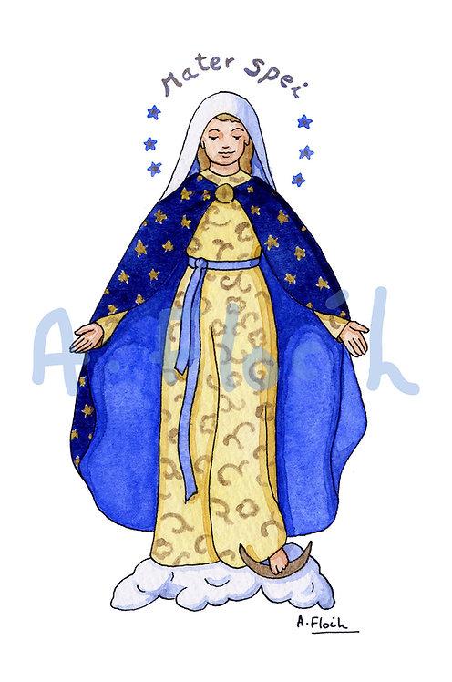Vierge A5 (différentes représentations)