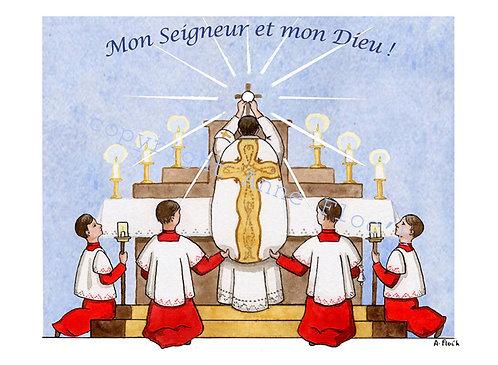 Lot de 6 images de communion garçon