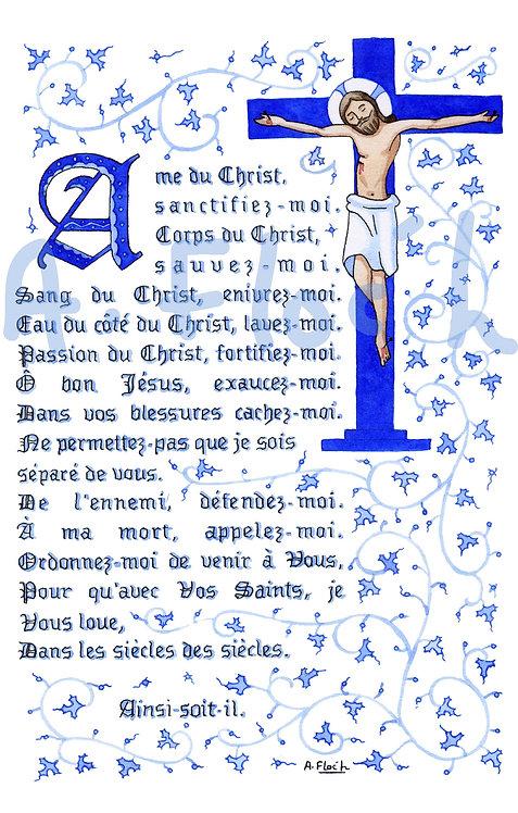 Ame du Christ, prière, A5