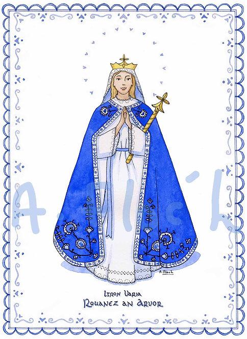 Vierge bretonne A5 ou A4