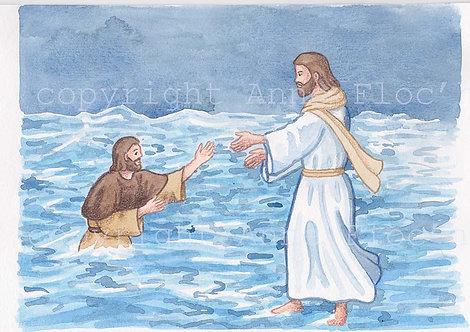 Aquarelle A5, vie de Jésus