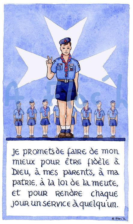 Reproduction A5 scoutisme (croix de Malte)
