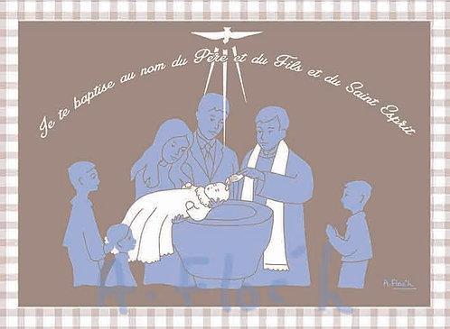 Lot de 10 images de baptême