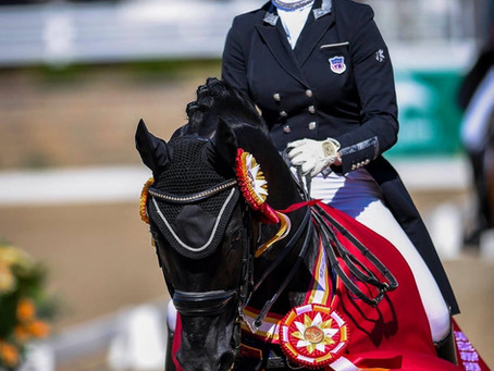 Katherine Mathews and Soliere win 2020 US Dressage Young Rider Reserve National Championship