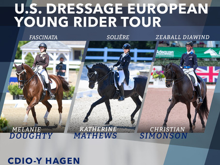 Katherine Mathews selected by US Equestrian for U.S. Dressage Young Rider Tour Team
