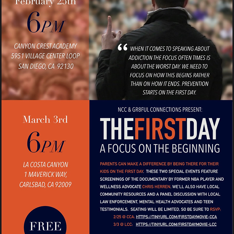 The First Day: A Focus On The Beginning (1)