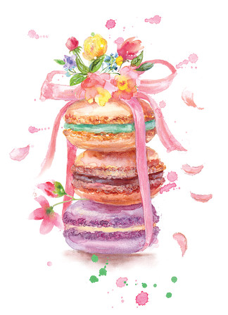 Macaroons. Illustration.