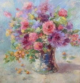 Bouquet. Oil on canvas