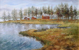 Norrland. Oil on canvas