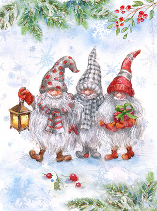 Scandinavian gnomes. Illustration.