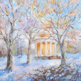 Nikolskoye. Oil on canvas