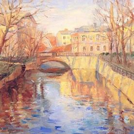 Västerås. Oil on canvas