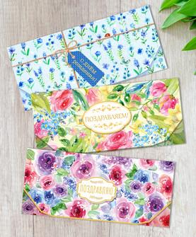 Envelopes for banknotes.